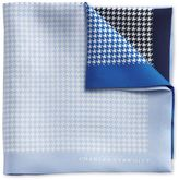 Charles Tyrwhitt Blue Silk Puppytooth Classic Pocket Square