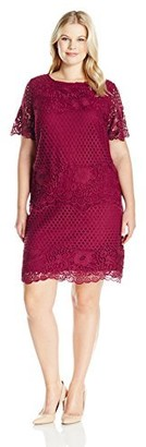 Julia Jordan Women's Plus Size Short Sleeve Sheath