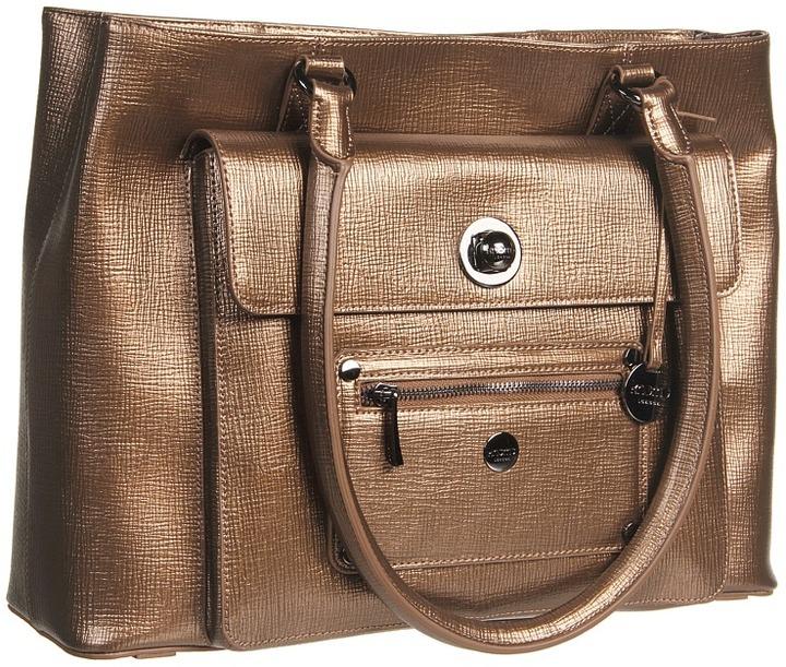 Knomo London - Kampala Tablet Pocket Satchel Laptop Bag (Khaki) - Bags and Luggage