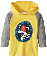 Little Marc Jacobs Long Sleeve Hooded Tee Shirt with Hockey Mouse Player Boy's T Shirt
