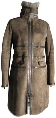 Emporio Armani Brown Shearling Coat for Women