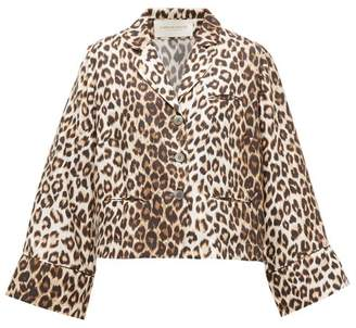 La Prestic Ouiston Leopard Print Silk Blouse - Womens - Animal