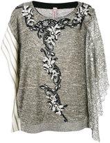 Antonio Marras contrast panel jumper - women - Cotton/Linen/Flax/Polyester/Viscose - M