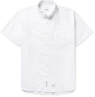 WTAPS Button-Down Collar Logo-Appliqued Cotton Oxford Shirt