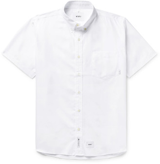 Wtaps Button-Down Collar Logo-Appliqued Cotton Oxford Shirt