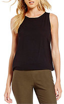 Eileen Fisher Petites Bateau Neck Shell