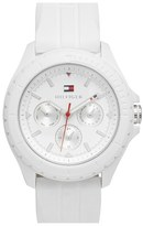 Tommy Hilfiger Multifunction Silicone Strap Watch, 42mm