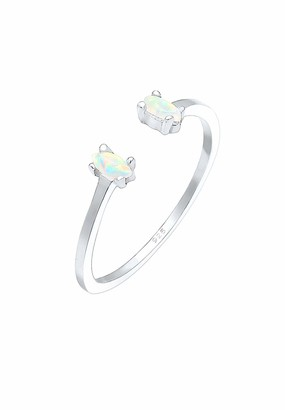 Elli Women's 925 Sterling Silver Solitaire Anniversary Ring O 0602350618_54