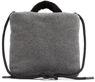 Kassl Editions Rope Medium Wool-blend Felt Cross-body Bag - Grey Multi