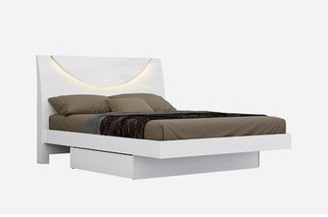 Orren Ellis Saguenay Solid Wood and Upholstered Platform Bed with Mattress Size: Queen