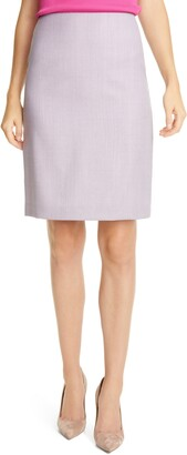HUGO BOSS Vikena Wool Pencil Skirt