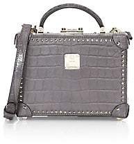 MCM Women's Small Berlin Croc-Embossed Leather Box Bag