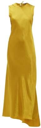 Ann Demeulemeester Open Back Satin Dress - Womens - Yellow