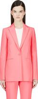 Cédric Charlier Pink Long Blazer