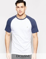 Farah T-shirt With Contrast Reglan Sleeves Slim Fit Exclusive
