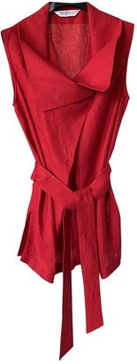 Max Mara Red Linen Top for Women