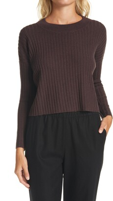 Eileen Fisher Ribbed Knit Box Top