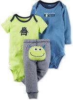 Carter's Baby Boys' 3-Pc. Monster Bodysuits & Pants Set