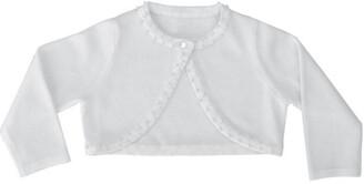 Heritage White Special Occasion Bolero Cardigan