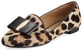 Salvatore Ferragamo Bow Calf-Hair Loafer, Leopard