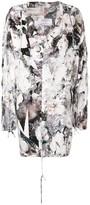 A.F.Vandevorst floral print hooded parka coat