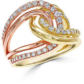 Effy 14K Rose Gold and Gold Diamond Ring
