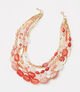 LOFT Sunset Multistrand Necklace