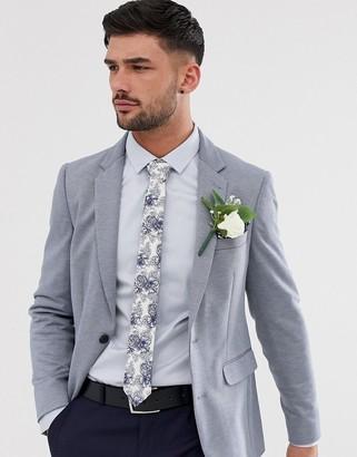 Burton Menswear jersey blazer in light blue