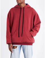 Unravel Brush Reverse cotton-jersey hoody