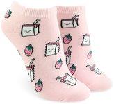 Forever 21 FOREVER 21+ Strawberry Graphic Ankle Socks