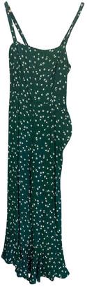 Faithfull The Brand Green Cotton Jumpsuits