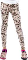 LittleMissMatched Oatmeal Leopard Print Leggings