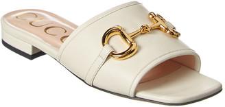 Gucci Horsebit Leather Sandal