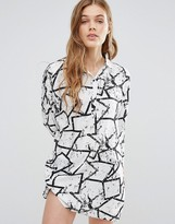 Noisy May Sandra Graffiti Shirt Dress