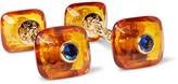 Trianon - Amber, 18-Karat Gold and Sapphire Cufflinks