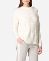 N.Peal Oversize Box Cable Cashmere Jumper