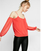 Express cold-shoulder blouse