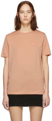 Acne Studios Pink Ellison Face T-Shirt