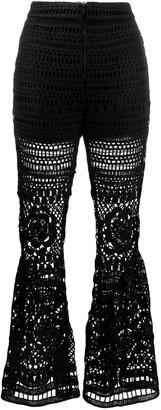 Self-Portrait Crochet Trousers