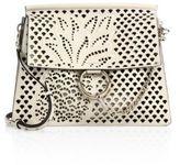 Chloé Medium Faye Perforated Leather Shoulder Bag