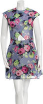Carven Printed Cutout Dress