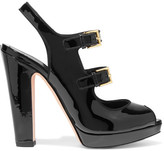 Alexander McQueen Patent-leather Sandals - Black