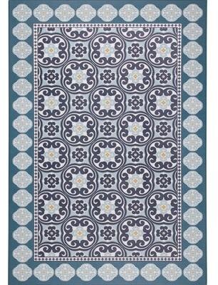 """Nicole Miller Calm Step Comfort Foam Blue Area Rug Rug Size: Rectangle 3'3"""" x 5'"""