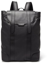 Paul Smith Logo-print Soft Grained-leather Backpack - Mens - Black