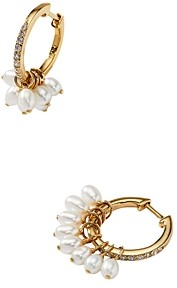 Nadri Nectar Swarovski Glass Pearl Shaky Hoop Earrings