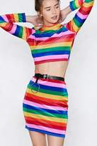 Nasty Gal Good Vibrations Rainbow Skirt