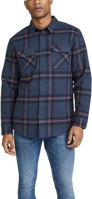 RVCA Yield Flannel Plaid Long Sleeve Shirt