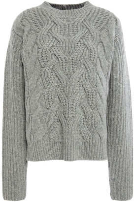 Helmut Lang Cable-knit Wool Sweater