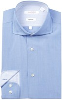 Isaac Mizrahi Mini Stripe Slim Fit Dress Shirt