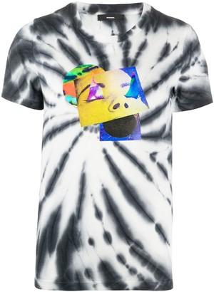 Diesel printed tie dye T-shirt